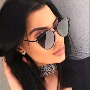 Accessories - Black Out Cat Eye Aviator Sunnies